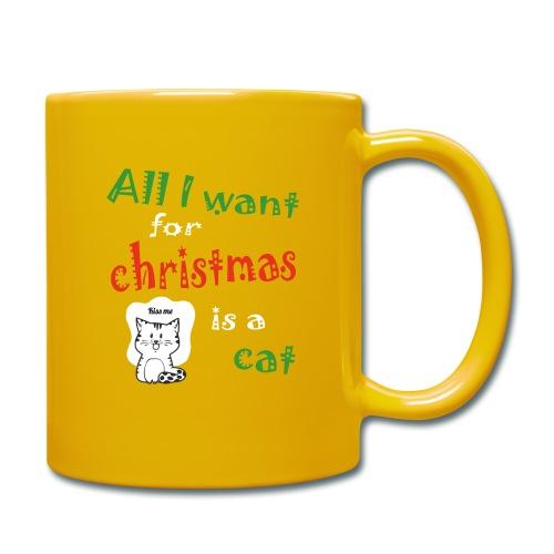 Al wat ik wil voor kerstmis is een kat - Mok uni