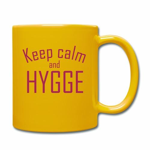HYGGE - Keep calm - Tasse einfarbig