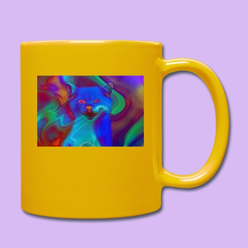 Gattino con effetti neon surreali - Tazza monocolore