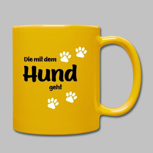 Die Mit Dem Hund Geht - Edition Colored Paw - Tasse einfarbig