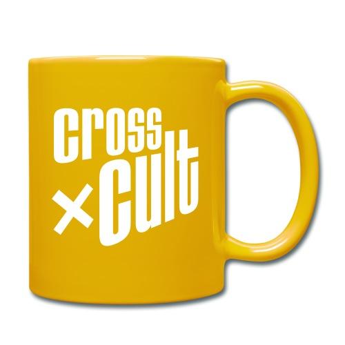 Cross Cult Logo Weiß - Tasse einfarbig
