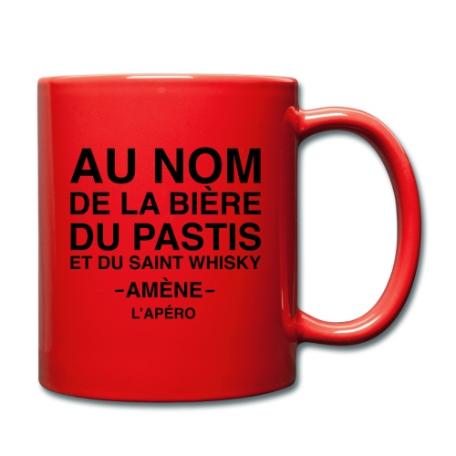 Au nom de la bière, du pastis et du simple whisky - Mug uni