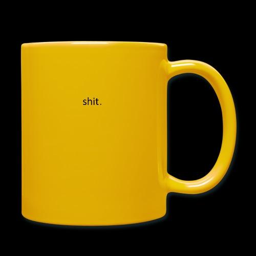 shit. - black - Full Colour Mug