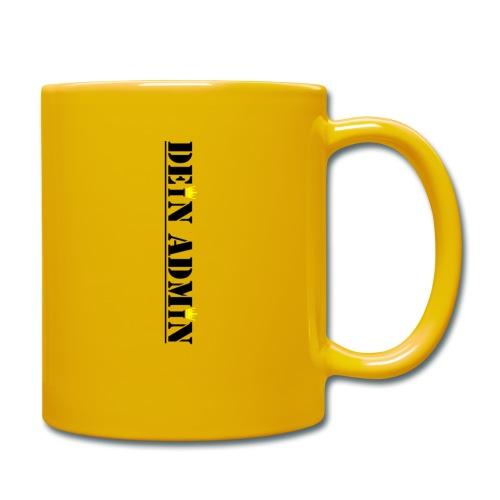 DEIN ADMIN - Motiv (schwarze Schrift) - Tasse einfarbig