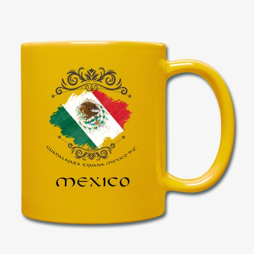 Mexico Vintage Bandera - Tasse einfarbig