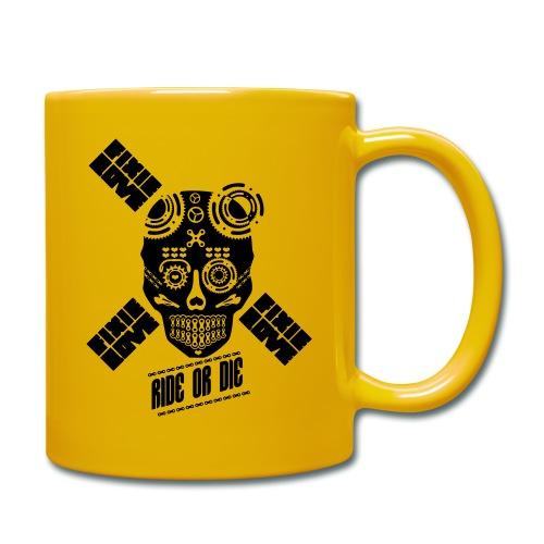 skull riding ride or die - Mug uni
