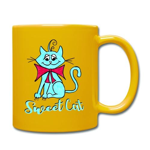 Niedliche kleine blaue Katze, Sweet! - Tasse einfarbig