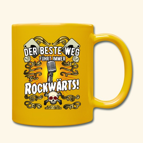 Rock Music Shirt ROCKWÄRTS - Tasse einfarbig