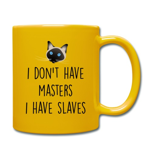 I don't have masters I have slaves - Mug uni