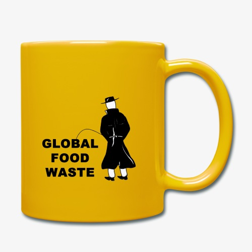 Pissing Man against Global Food Waste - Tasse einfarbig