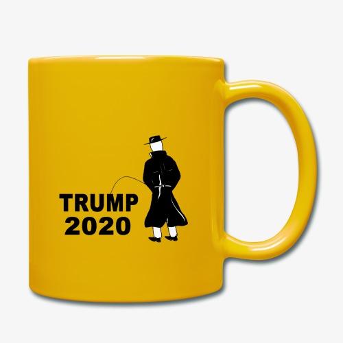 Pissing Man against Trump 2020 - Tasse einfarbig