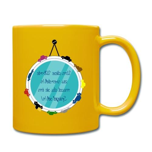 Spiegelschrift - Tasse einfarbig