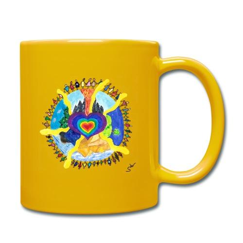 Herzwelt - Tasse einfarbig
