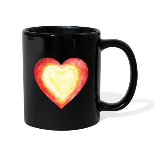 Burning Fire Heart - Full Colour Mug