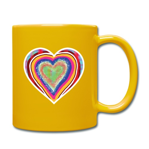 A heart in hearts is pure love on many levels - Full Colour Mug