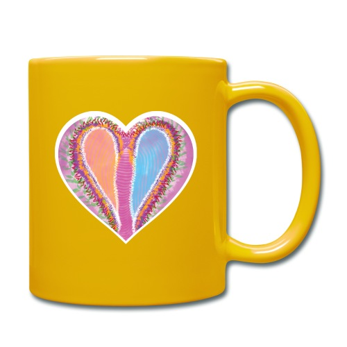 Hearts dont split, they get wings - Full Colour Mug