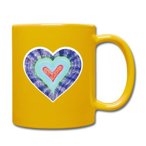 HeartSpread 18Little red heart in a green garden - Full Colour Mug