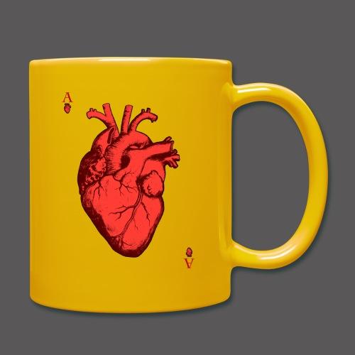 Herz Ass - Tasse einfarbig
