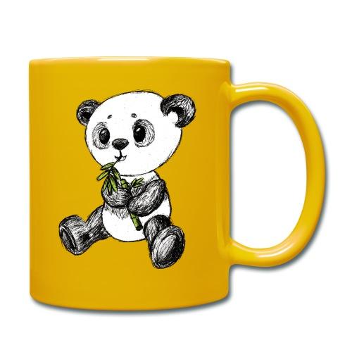 Panda bjørn farvet scribblesirii - Ensfarvet krus