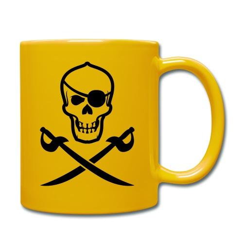Totenkopf Pirat - Tasse einfarbig