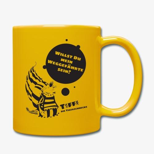 TIFFI: Willst du mein Weggefährte sein? (schwarz) - Tasse einfarbig