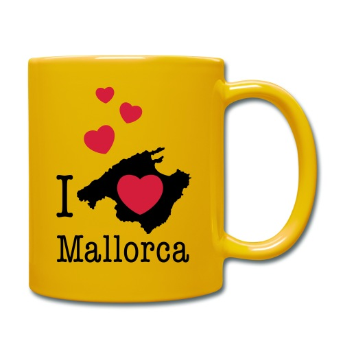 love Mallorca Balearen Spanien Ferieninsel Urlaub - Full Colour Mug