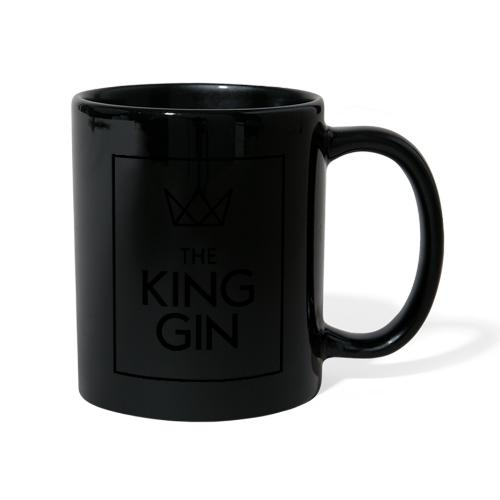 The King Gin Logo schwarz RGB Rahmen - Tasse einfarbig