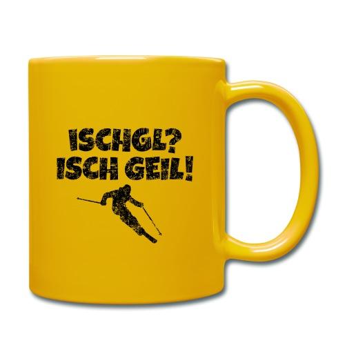 Ischgl Ischgeil (Vintage Schwarz) Ski Skifahrer - Tasse einfarbig