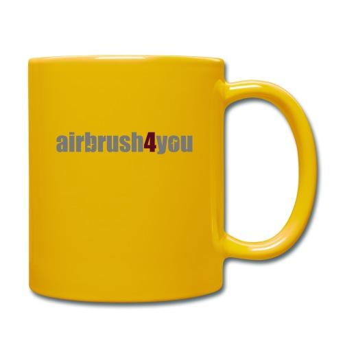 Airbrush - Tasse einfarbig
