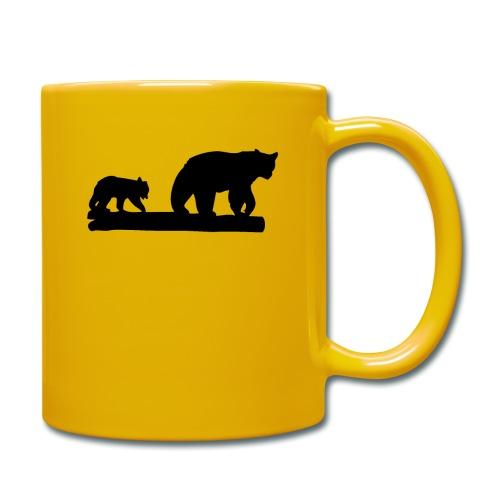 Bären Bär Grizzly Wildnis Natur Raubtier - Tasse einfarbig