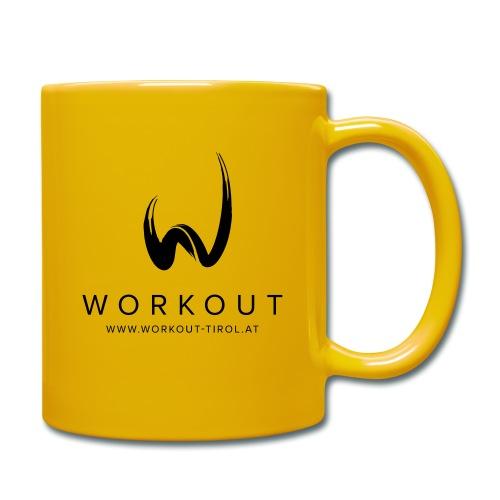 Workout mit Url - Tasse einfarbig