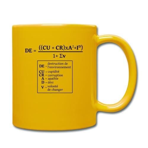 Formule de la destruction de l'environnement - Mug uni