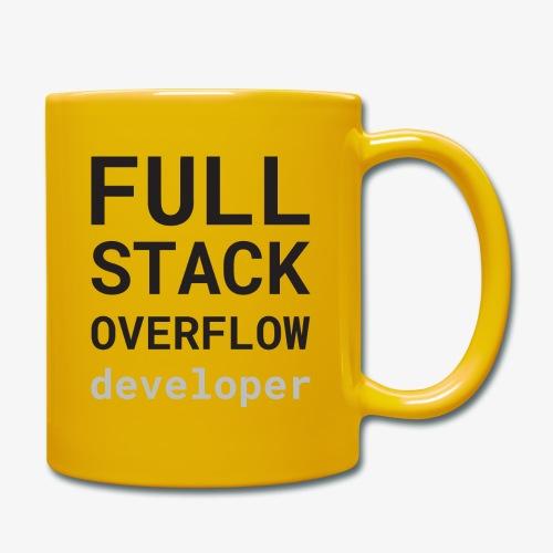 Full stack overflow developer - Full Colour Mug