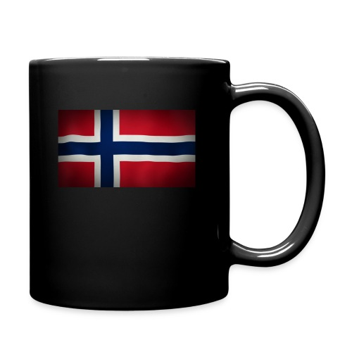 Norsk Flagg - Ensfarget kopp