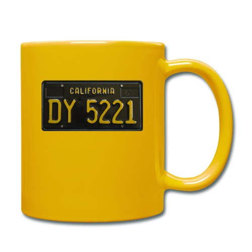 CALIFORNIA BLACK LICENCE PLATE - Full Colour Mug