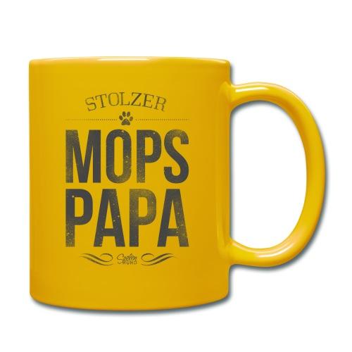 Stolzer Mopspapa - Tasse einfarbig