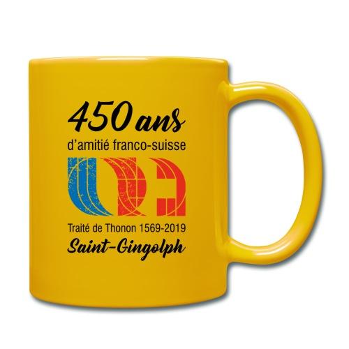 Logo 450 ans d'amitié franco-suisse Saint-Gingolph - Mug uni