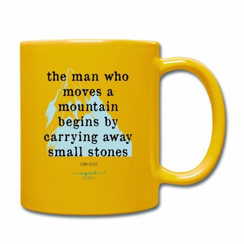 Confucius` Quote - The man who moves a mountain - Full Colour Mug