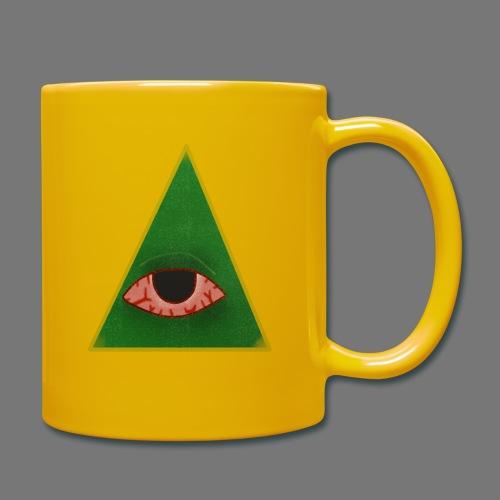 illuminati eye - Taza de un color