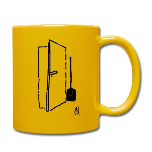 Türe mit Besen - Tasse einfarbig
