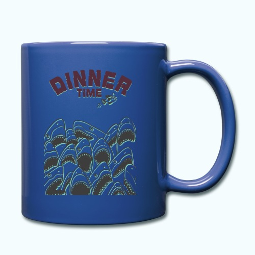 Dinner Time Funny Retro 90s Shark Shirt - Full Colour Mug