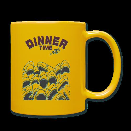 Dinner Time Funny Retro 90s Shark Shirt - Full Colour Mug