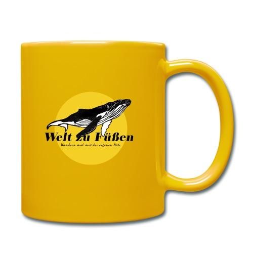 Welt zu Füßen Logo - Tasse einfarbig