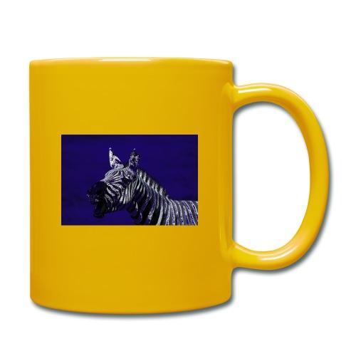 blue zebra - Full Colour Mug