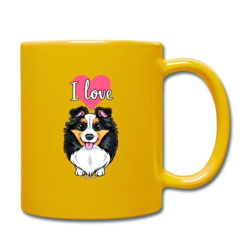 Sheltie Dog Love - Full Colour Mug