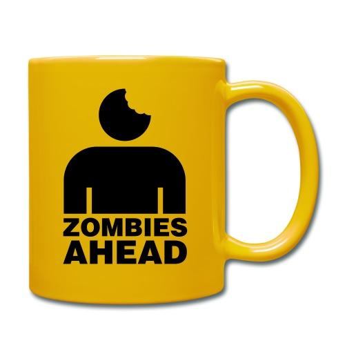 Zombies Ahead - Enfärgad mugg