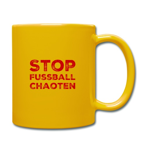 Stop Fussball Chaoten - Tasse einfarbig
