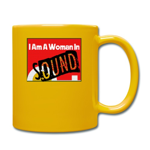 I am a woman in sound - red - Full Colour Mug