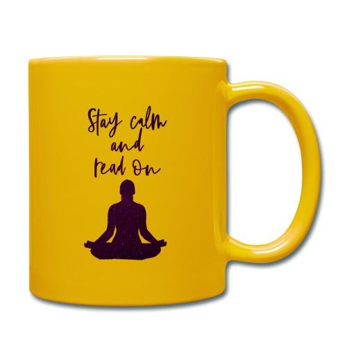 Meditation & Lesen - Tasse einfarbig