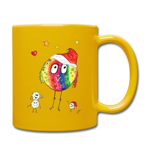 Happy Weihnachtskugelbird - Tasse einfarbig